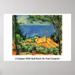 L'Estaque con los tejados rojos de Paul Cezanne Impresiones