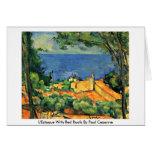 L'Estaque con los tejados rojos de Paul Cezanne Tarjeta