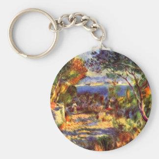 L'Estaque por Renoir, arte del impresionismo del Llavero Redondo Tipo Pin