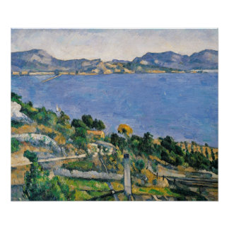 L'Estaque, View of the Bay of Marseilles Poster