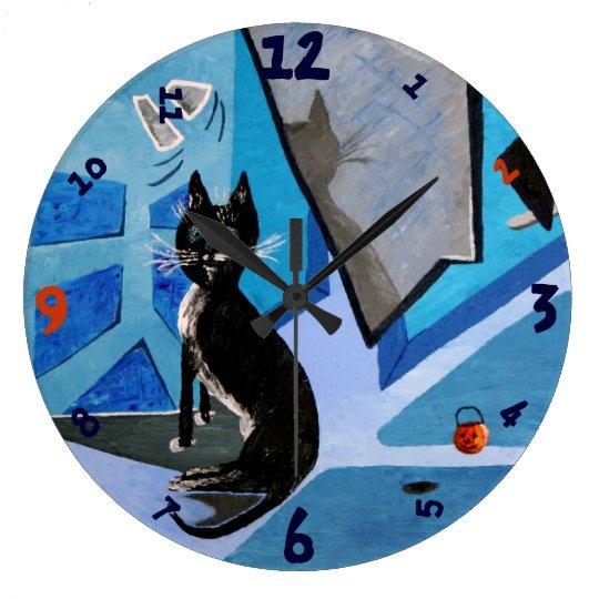 Lestat the Cat Large Clock