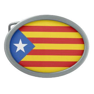 """L'Estelada Blava"" Catalan Independence Flag Belt Buckle"