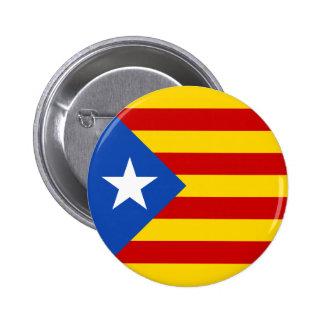 """L'Estelada Blava"" Catalan Independence Flag 2 Inch Round Button"