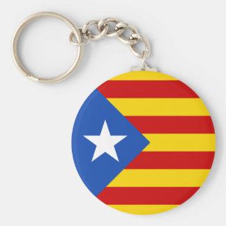 """L'Estelada Blava"" Catalan Independence Flag Keychain"
