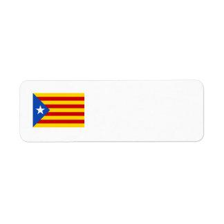 """""""L'Estelada Blava"""" Catalan Independence Flag Label"""