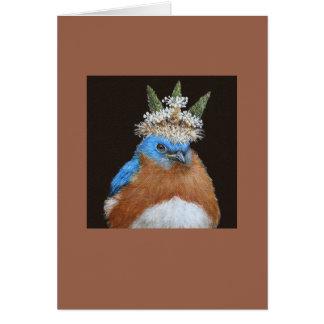 Lester la tarjeta gruñona, mandona del bluebird