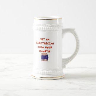LET AN ELECTRICIAN UNDO YOUR SHORTS COFFEE MUG