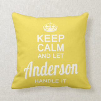 Let Anderson handle it Throw Pillow