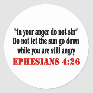 Let Anger Go Classic Round Sticker