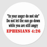 Let Anger Go Round Stickers
