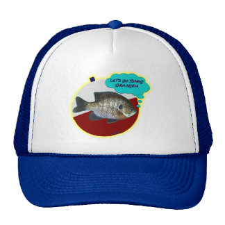 Let's go fishing grandpa gill trucker hat