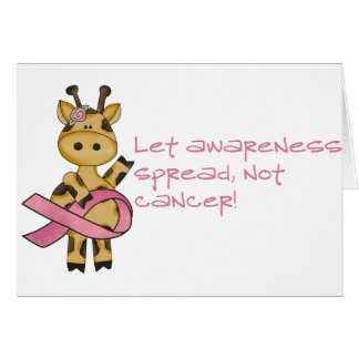 Let awareness spread not cancer card