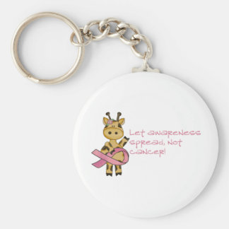 Let awareness spread not cancer keychain