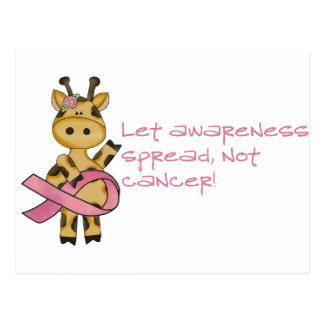 Let awareness spread not cancer postcard