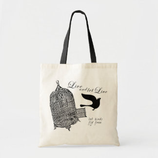 let bird fly free tote bag