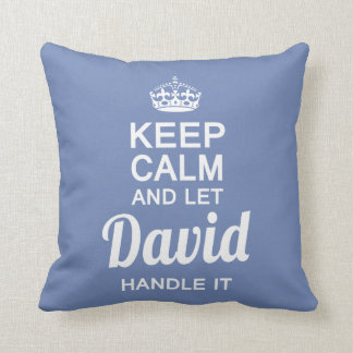 Let David handle it Throw Pillow