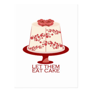 Let Eat Them Cake Post Cards