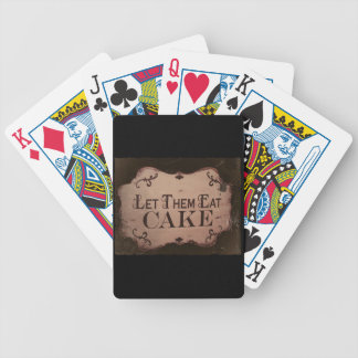 """Let 'Em Eat Cakes Bicycle Playing Cards"