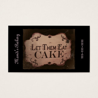 """Let 'Em Eat Cakes Business Card"