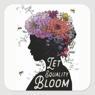 Let Equality Bloom stickers
