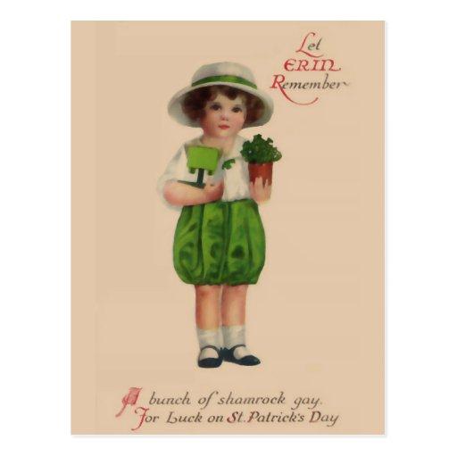 Let Erin Remember Vintage St. Patrick's Day Postcards