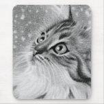 Let es gato del gatito de la nieve alfombrillas de raton