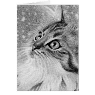 Let es gato del gatito de la nieve tarjetas