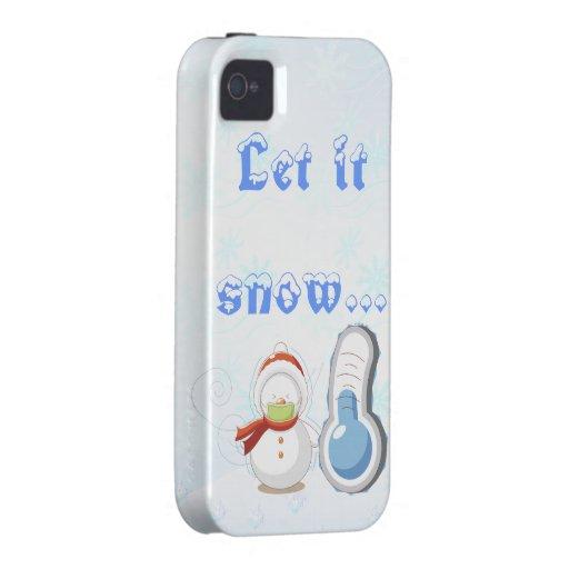 Let es nieve carcasa Case-Mate para iPhone 4