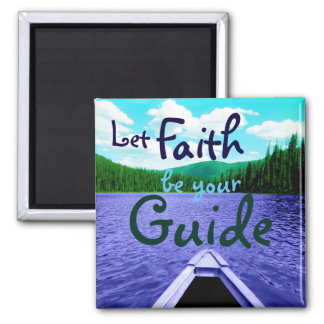 Let Faith be Your Guide Canoe on Lake Magnet