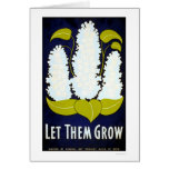 Let Flower Grow 1938 WPA Card