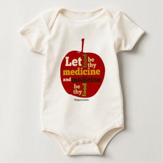 Let Food be thy Medicine APPLE Baby Bodysuit