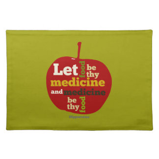 Let Food be thy Medicine APPLE Placemat