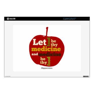 "Let Food be thy Medicine APPLE 15"" Laptop Skins"