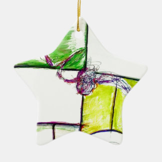 Let Freedom Reign in the Dance of the Chaos Star Ceramic Ornament