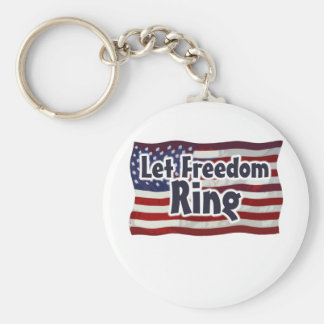 Let Freedom Ring Basic Round Button Keychain