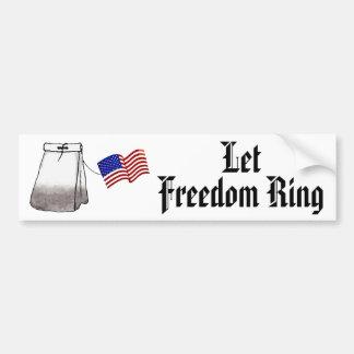 Let Freedom Ring Bumper Sticker