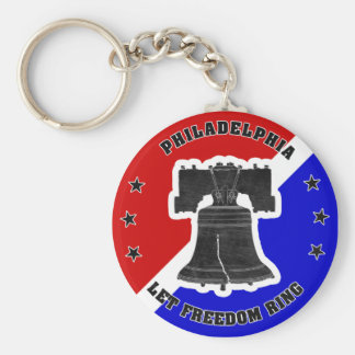 Let Freedom Ring button keychain