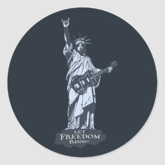 Let Freedom Ring Classic Round Sticker
