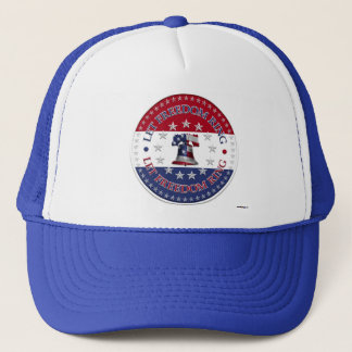 Let Freedom Ring Liberty Bell 13 & 50 Stars round Trucker Hat