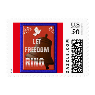 Let Freedom Ring - postage stamp