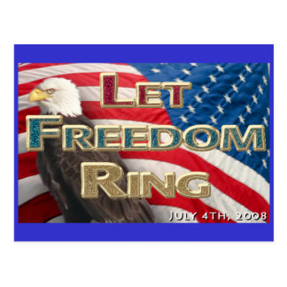 Let Freedom Ring Postcard