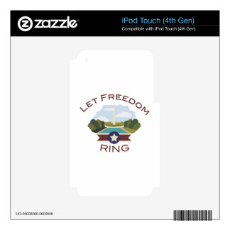 Let Freedom Ring Skins For iPod Touch 4G