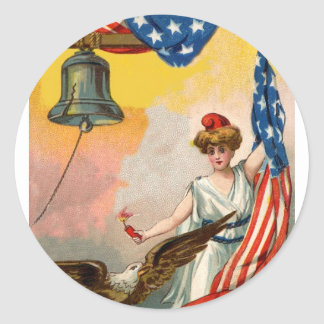 Let Freedom Ring! Classic Round Sticker