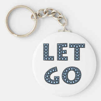 let-go-594531 LET IT GO TEARS BLUE CRYING TYPOGRAP Keychain