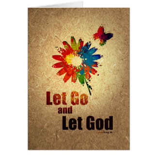 Let Go and Let God (12 step recovery program) Card