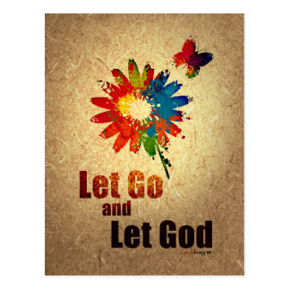 Let Go and Let God (12 step recovery program) Postcard