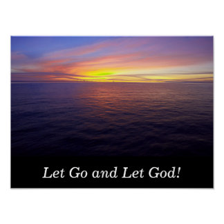 Let Go and Let God - art poster