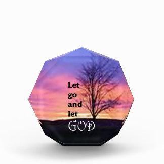 Let Go and Let God Acrylic Award
