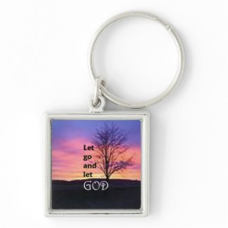 Let Go and Let God Basic Round Button Keychain