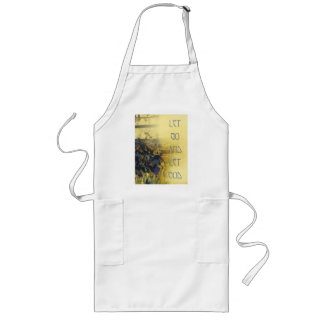 Let Go and Let God Blue Irises and Fence Long Apron